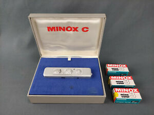 E220-1 Minox C, Spionkamera, Kleinstbildkamea, 8x11, mit Zubehör
