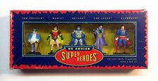 DC Super Heroes Batman, Superman, Joker, Robin, Penguin Metal Figurine Set Box
