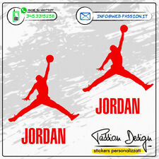 Adesivo Stickers AIR JORDAN 2pz. BASKET NBA Decorazione AUTO MOTO CASCO SCOOTER