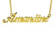 Collier Prénom AMANDINE 18K Plaqué or - Anniversaire Cadeau Demoiselle d'honneur