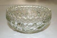 "Vintage Brilliant Cut Clear Glass Bowl 7"" Round x 3-1/4"" Tall"