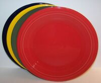 "NEW SET OF 4 FIESTAWARE MIXED COLOR 10.5"" DINNER PLATES FIESTA"