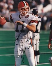 CLEVELAND BROWNS TY DETMER 1999 PATCH SIGNED 8 X 10 PHOTO  w COA