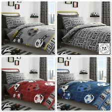 Bedlam Children's Kids Reversible Football Duvet Cover Set Bed Range 3 Colours