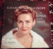 COLUMBIA 33CX 1404 SCHWARZKOPF*MOORE songs of love 1950s UK MONO VINYL LP