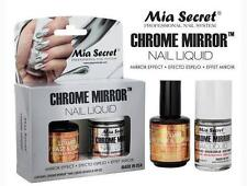 Mia Secret Chrome Mirror Nail Liquid UV Base Top Gel Set *Mirror Effect Polish*