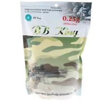 BB King Softair Kugeln Airsoft 3000 Stk. 6MM 0,25g Weiß Munition Geschliffen
