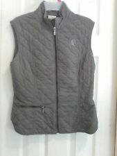 New listing Vtg ARISTA Moss Green Quilted Equestrian vest sz M Canada riding weekend hipster