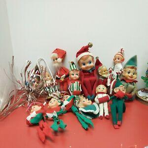 Vintage Christmas Pixie Elves Large Lot