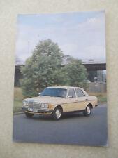 1981 Mercedes 200 automobiles advertising brochure