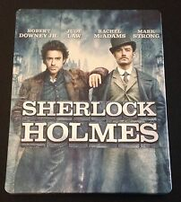 SHERLOCK HOLMES Blu-Ray SteelBook Robert Downey Jr, Rachel McAdams Like New Rare