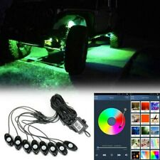Multicolor 8Pods RGB Led Light Kit Remote Control Flashing For Jeep ATV Offroad