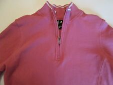 Adidas Women's 1/4 Zip Sweater Sz S Pink With White Stripe Long Sleeve Small #C1