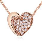 LUSSO Collana a cuore cristallo oro rosa argento san valentino idea regalo
