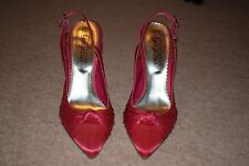 Pink Stiletto Slingback High Heeled Shoes Size 4