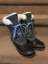WOMENS Duck FUR Sz 8 INSULATED SNOW BOOTS STEEL SHANK *Worn Once* New w/o Tags