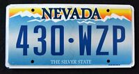 "NEVADA "" THE SILVER STATE - MOUNTAIN - 430 WZP "" NV Graphic License Plate"