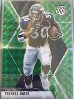 2020 Mosaic Terrell Davis Green Prizm Denver Broncos