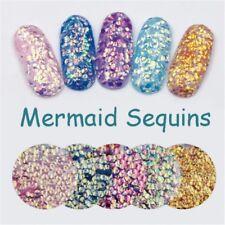 Nail Art Flake Tips Decoration Fish Scale Sequins Mermaid Hexagon Glitter Sheet