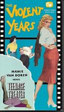 THE VIOLENT YEARS Jean Moorhead VHS Exploitation Film Written by Ed Wood
