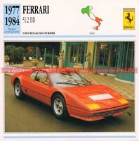 FERRARI 512 BB 1977-1984 : Fiche Auto Collection
