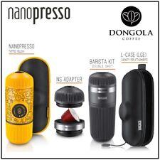 NANOPRESSO TATTOO Espresso Coffee Machine  BARISTA KIT  NS ADAPTER  LGE CASE