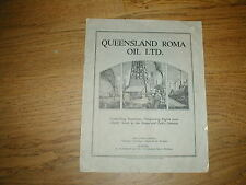 PROSPECTUS for QUEENSLAND ROMA OIL SHARES First oil find in Australia DATED 1928