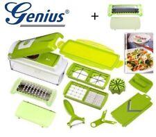 Genius Nicer Dicer Plus 13tlg grün + GRATIS Reibe Zerkleinerer Multischneider