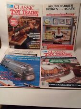 COMPLETE SET OF 4 1989 CLASSIC TOY TRAIN MAGAZINES