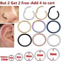 Bulk Surgical Steel Hinge Segment Nose Septum Clicker Ear Helix Tragus Ring Hoop
