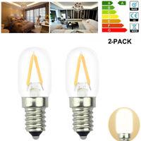 2 PCS E14 2W LED Bulb Fridge Light Flame Filament Light Bulbs Lamp Warm White