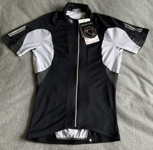 Endura FS260 Pro Womens Short Sleeve Cycling Jersey-small-black/white-never worn
