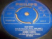 "RONNIE CARROLL "" DEAR HEART "" 7"" SINGLE 1965 EXCELLENT"