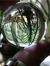 Crystal Orb Sphere,38mm,w/Lacquered Wood Stand,Grounding,Release Negativity