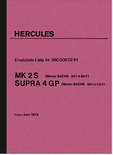 Hercules MK 2S SUPRA 4 GP MK2 S 4GP Ersatzteilliste Ersatzteilkatalog Sachs 501