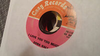 Dora Hall 45 I Love You Too Much/You're Nobody Till Somebody Loves Northern Soul