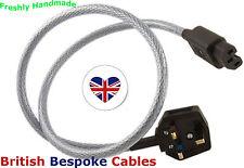 1m Quality Shielded Mains Cable MK Duraplug & Schurter IEC UK MADE fits Rega