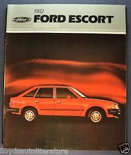 1982 Ford Escort Catalog Sales Brochure L GL GLX GT Wagon Excellent Original 82