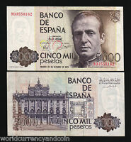 SPAIN 5000 PESETAS P160 1979 *REPLACEMENT 9D* EURO AUNC KING JUAN CURRENCY NOTE