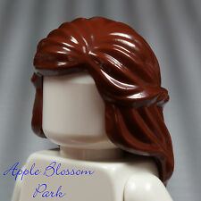 NEW Lego Female Minifig Long Reddish BROWN HAIR -Braided Princess Girl Head Gear