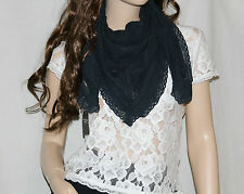 NEW! ABERCROMBIE Womens Beautiful Classic Floral Lace Embroidery Scarf Wrap $98