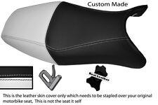 WHITE& BLACK CUSTOM FITS HONDA CBR 1100 XX SUPER BLACKBIRD 96-07 LTHR SEAT COVER