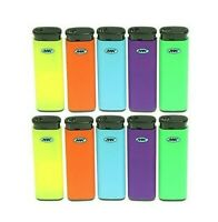 MK JET TORCH 10 Ct Full Size Lighters Refillable Windproof Colorful Lighter