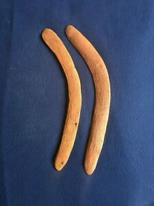 A pair of old Aboriginal Central Desert Fluted Boomerangs. NT