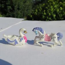 Trendmasters 2 figuras: cisne & caballo para carousel Castle como Mini Polly Pocket