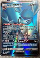 Pokemon card Glaceon GX 141/138 HOLO Ultra Prism PROXY CARD