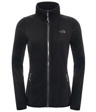 The North Face Womens 100 Glacier Full Zip Fleece Clothing Black S
