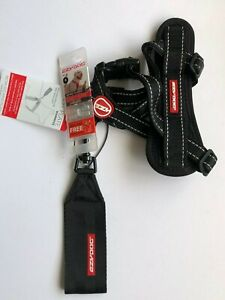 EzyDog Chest Plate Harness BLACK EXTRA SMALL,COMES WITH SEATBELT LOOP