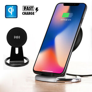 For iPhone X 6/8 Plus S9 S8 Note8 Wireless Charger Pad Qi Fast Charger Stand Pad