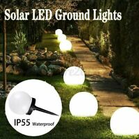 2/4/6Pcs LED Solar Round Ball Lights Garden Path Lawn Outdoor Ground Decor Lamp